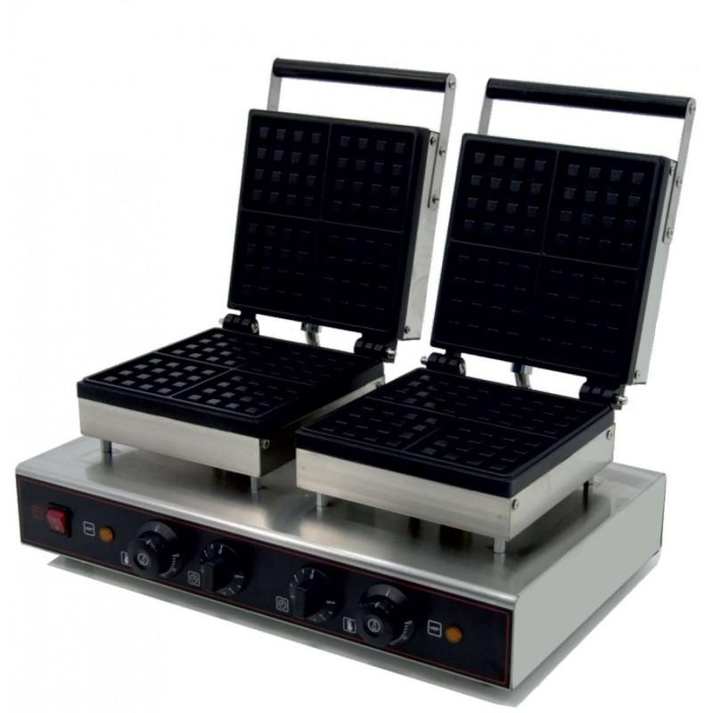 Máquina de gofres Doble eléctrica 3,2KW 570X380X230h mm