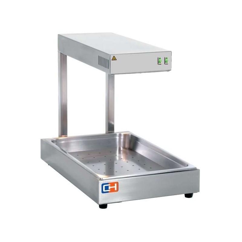 Calentador de fritos 1000W por Radiación Infrarrojos GN1/1-65 con medidas 560x500x330h mm CIGN-1