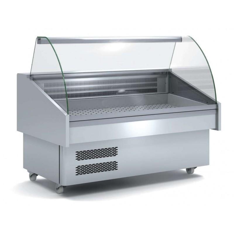 Vitrina Expositora Refrigerada Pescado / Marisco evaporador estático más placa fría dim.1505x915x1185h mm EEC-150-CC-EF