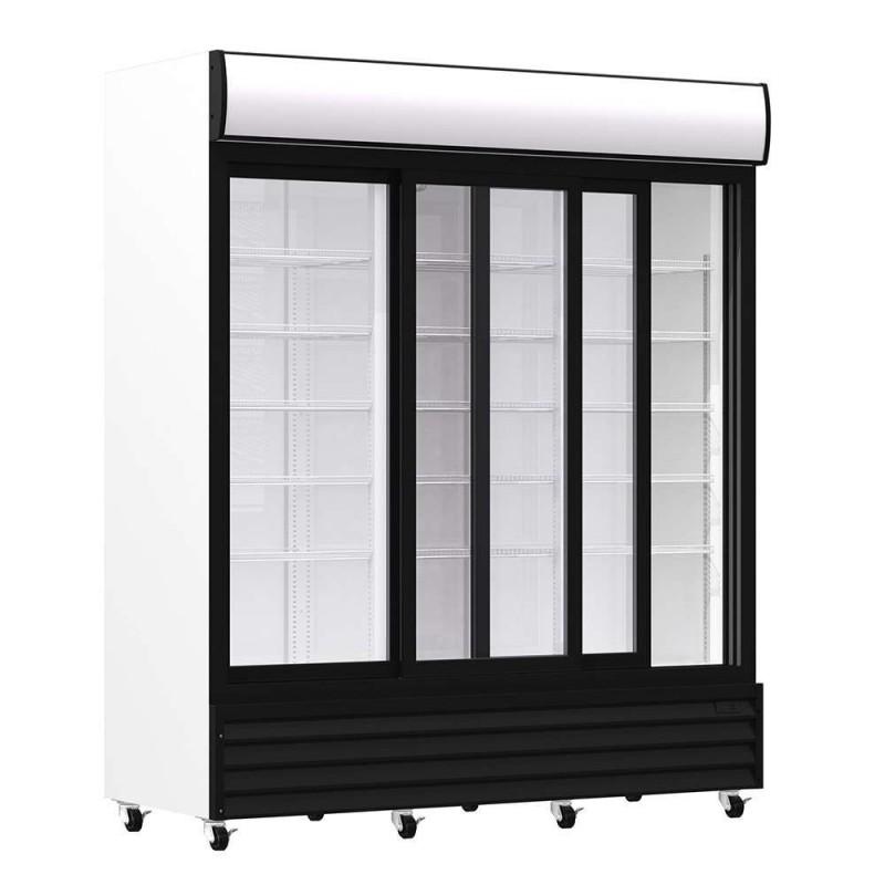 Armario Expositor Refrigerado 1600 litros 3 Puertas Deslizantes de Vidrio de 1720 x730 x2060h mm PEKIN CST1600S