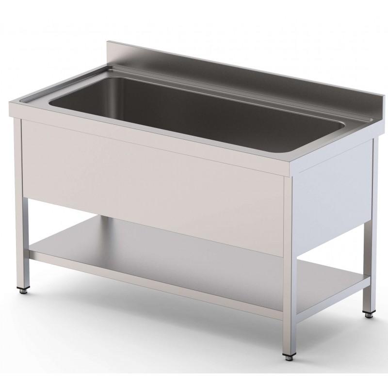 Fregadero Gran Capacidad 1 Cuba Fondo 700 Con Mueble Con Estante 1000x700x400h mm IS1712C1HCS1
