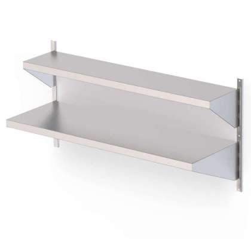 Estantería Mural Acero Inoxidable Con Estante Liso Para Cremallera Mural Fondo 250 1200x250 mm AWSFS120250