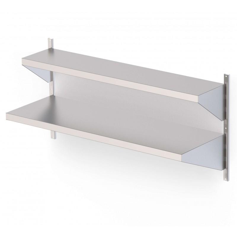 Estantería Mural Acero Inoxidable Con Estante Liso Para Cremallera Mural Fondo 250 1250x250 mm AWSFS140250