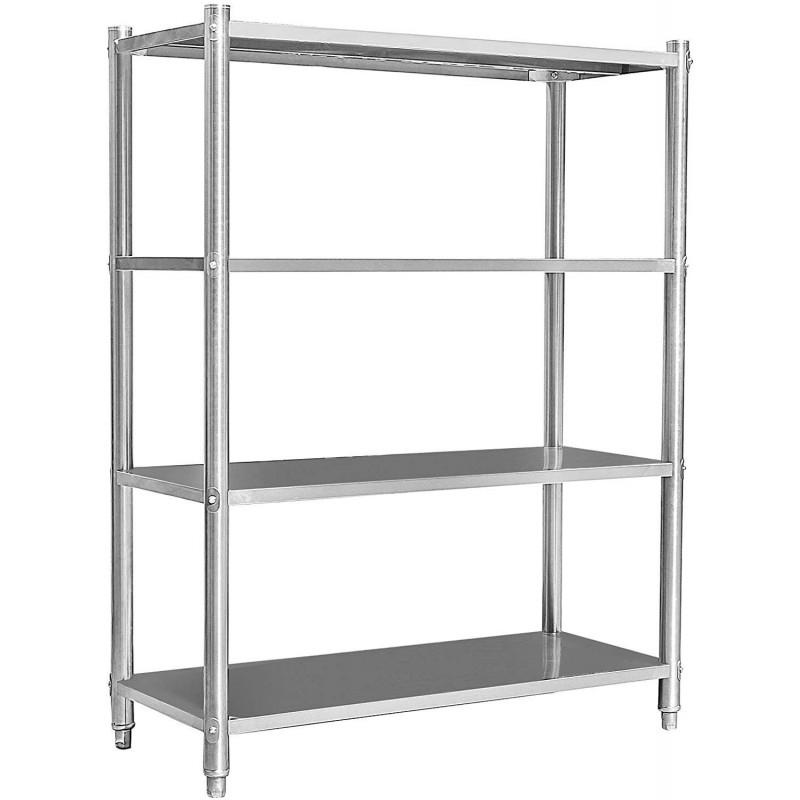 Estanteria acero inox 4 estantes 1200x500x1550 H24