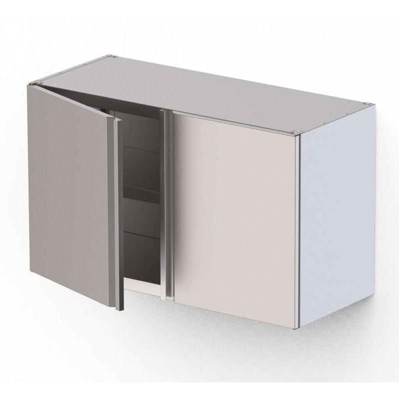 Armario Mural Acero Inoxidable Con 1 Puerta Abatible 400x400x600h mm WMC040460SW