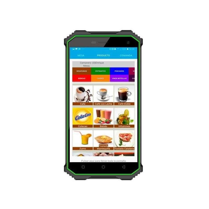 """PDA 5"""" táctil IP68 con sistema Android, 16Gb almacenaje y 2Gb memoria interna"""