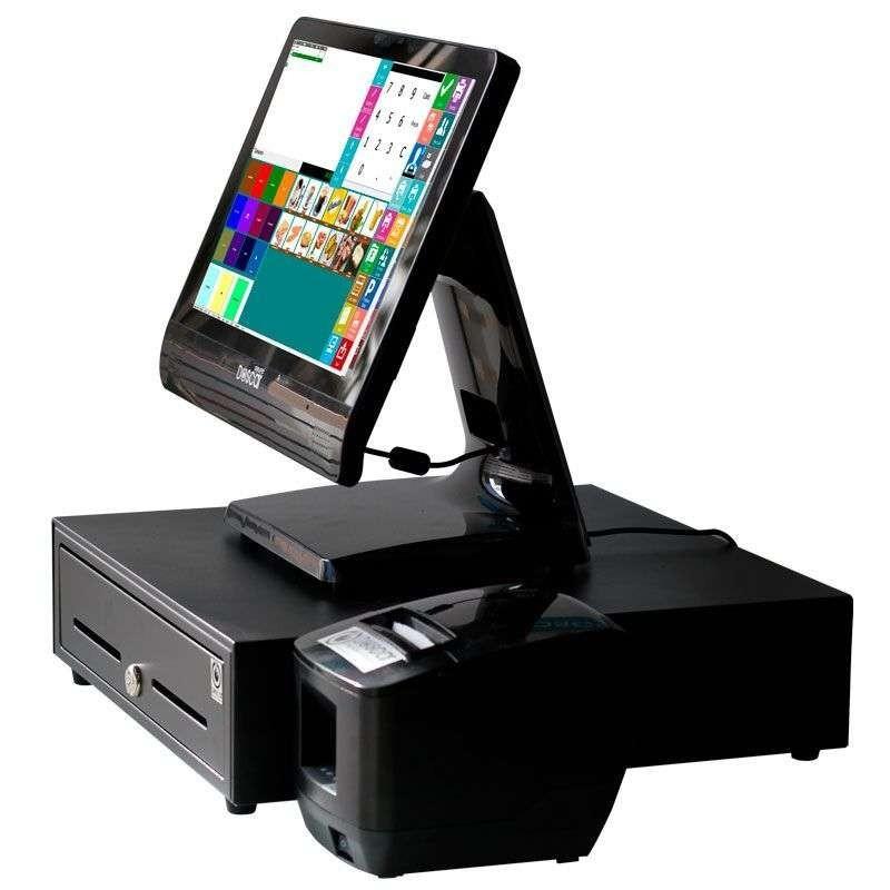 TPV Compacto Táctil resistiva: TPV Compacto+Cajón Portamonedas+Impresora 58mm Completa Hostelería MC9058C-H