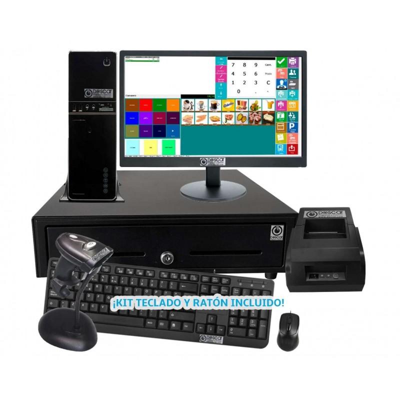 TPV Modular NO Táctil: TPV Modular+Cajón Portamonedas+Impresora 58mm +Teclado+Ratón Básica Hostelería MC5058B-H