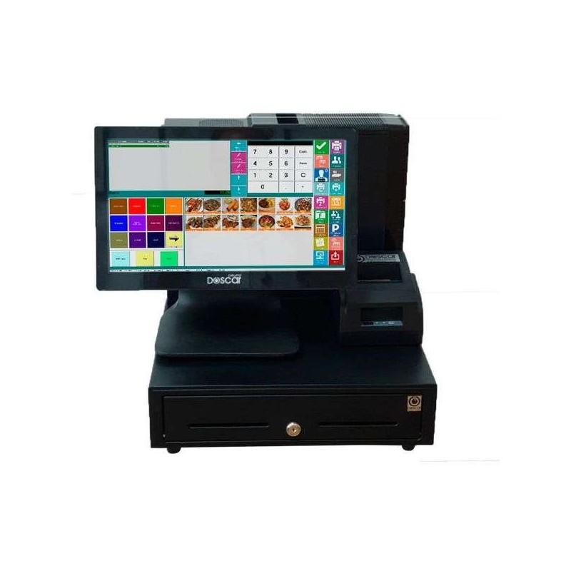 TPV Modular Táctil capacitiva: TPV Modular+Cajón Portamonedas+Impresora 80mm Básica Hostelería MC15680B-H