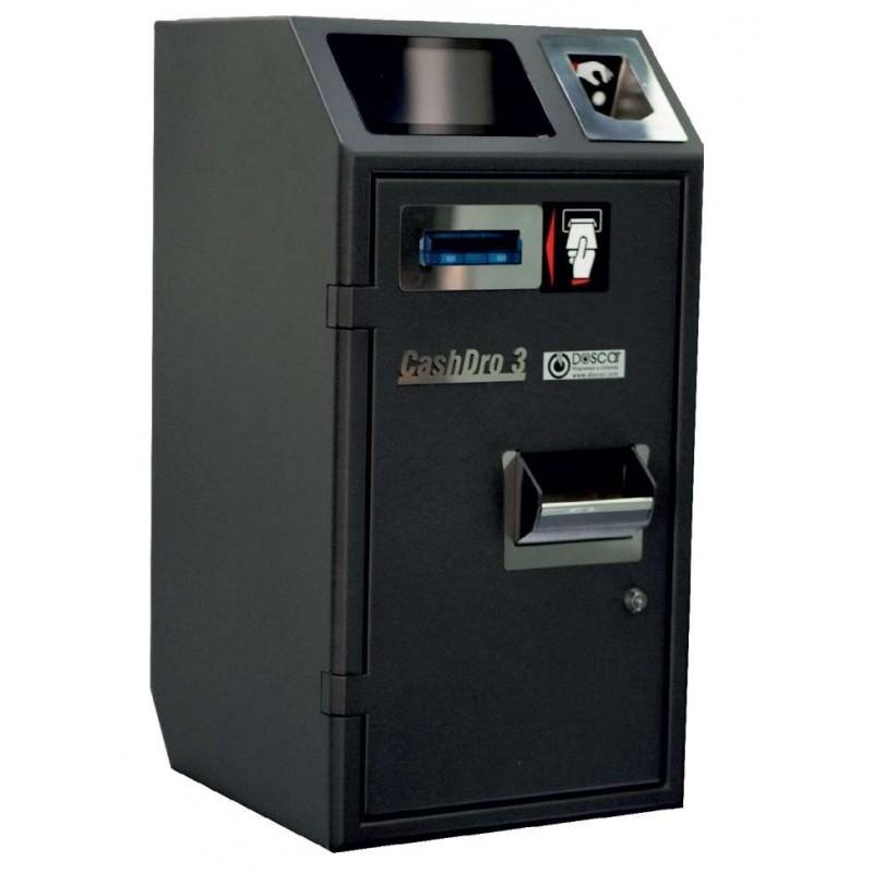 Máquina de Cobro Seguro - Cajón Inteligente CASHDRO3 dim.370x395x738h mm validación de billetes 3 seg. / billete